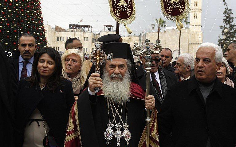 Réactions du patriarche de Jérusalem suite à la tentative d'incendie d'une église