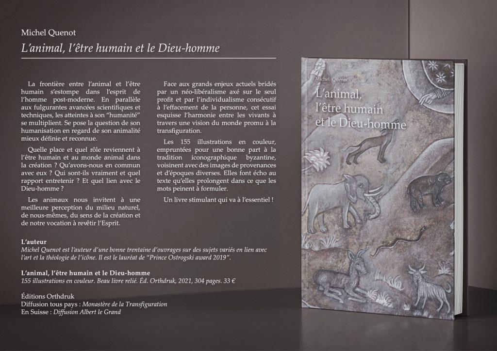 Vient de paraître : « L'animal, l'être humain et le Dieu-homme » par le père Michel Quenot