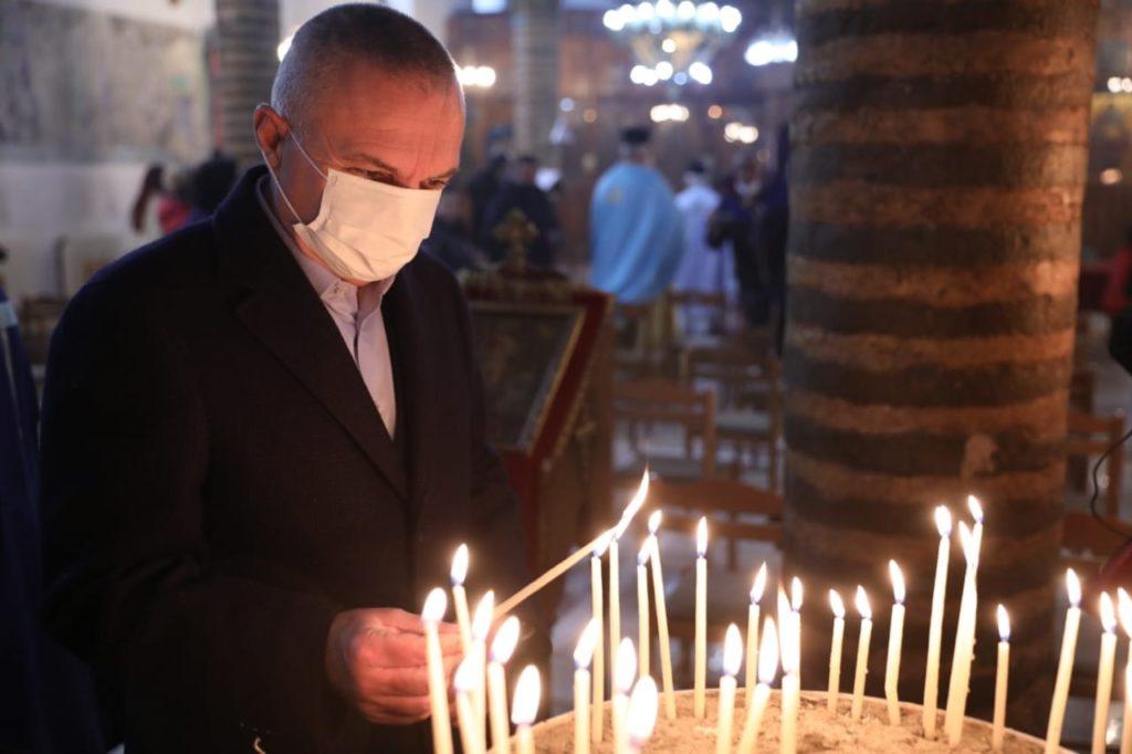 Le président albanais a assisté à la liturgie et à la bénédiction des eaux de la Théophanie