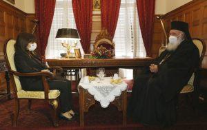 La présidente de la République hellénique a rencontré l'archevêque d'Athènes Jérôme
