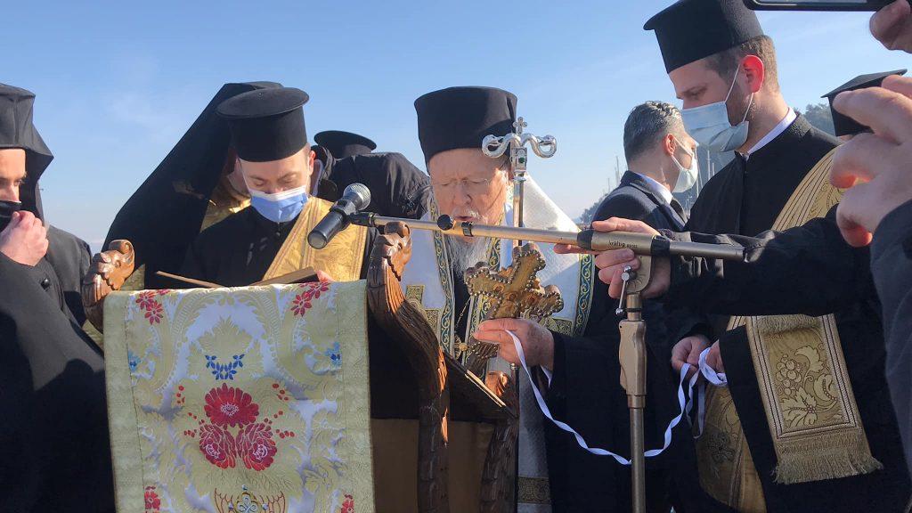 Le patriarche œcuménique Bartholomée a présidé la fête de la Théophanie selon l'ancien calendrier à Triglia