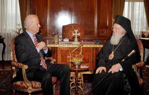 Message du président élu des États-Unis Joe Biden au patriarche Bartholomée