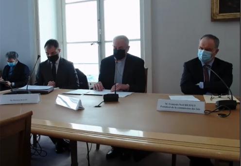 Vidéo de l'audition de Mgr Emmanuel (Adamakis) président de l'Assemblée des évêques orthodoxes de France le mercredi 10 février