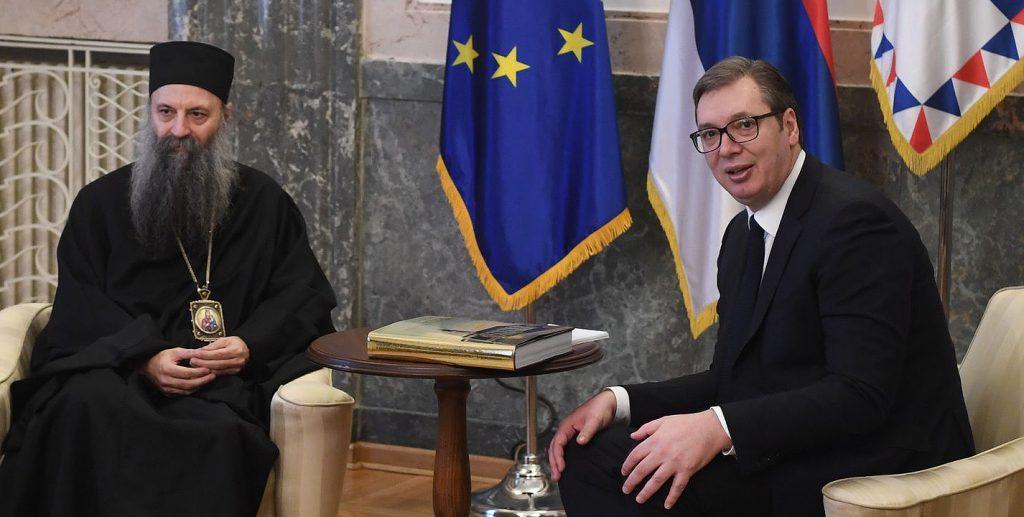 Rencontre du patriarche Porphyre avec le président serbe Aleksandar Vučić