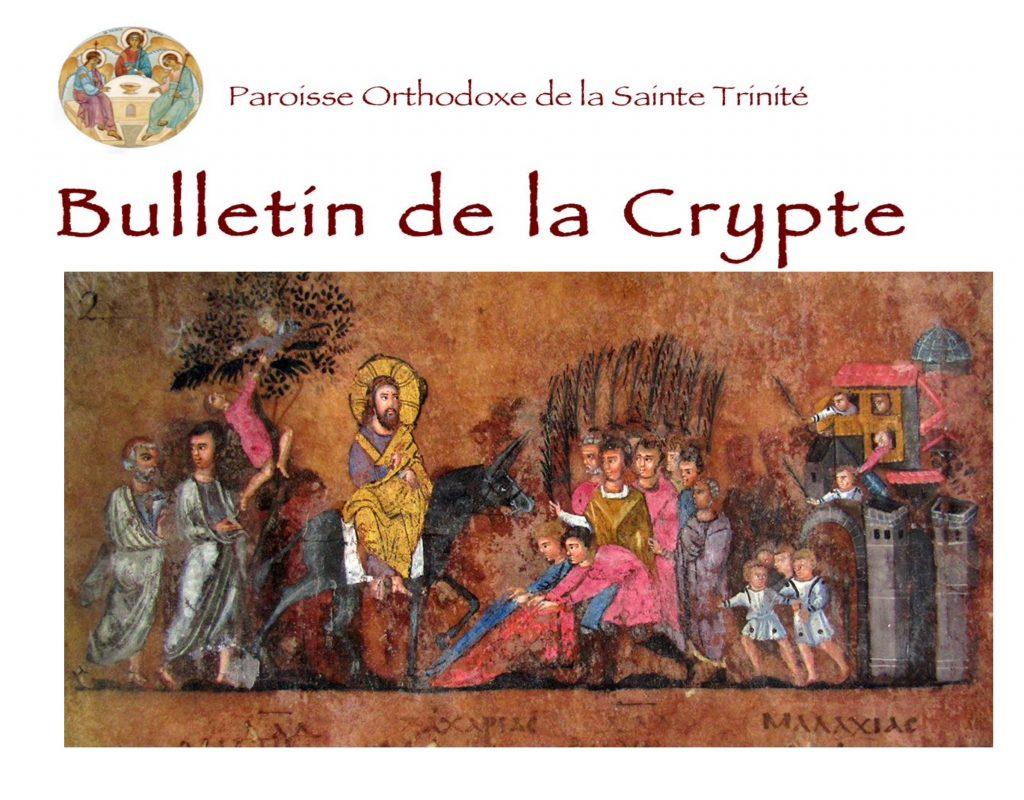 Le Bulletin de la Crypte, nouvelle série n°4
