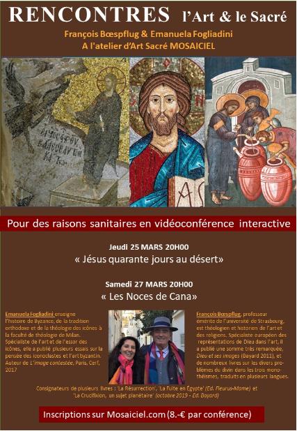 «L'art et le sacré», deux nouvelles rencontres proposées par l'atelier Mosaïciel