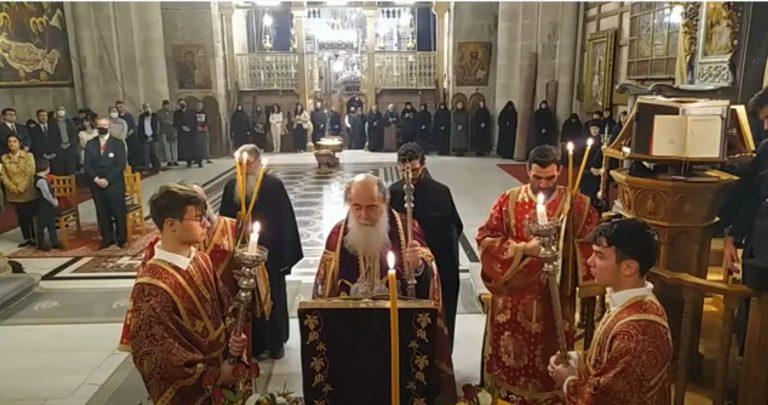 Office de l'Acathiste de la Mère de Dieu à Jérusalem (vidéo)