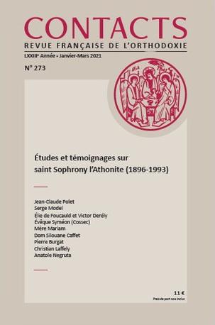 Le nouveau numéro de «Contacts» est consacré à saint Sophrony l'Athonite (1896-1993)
