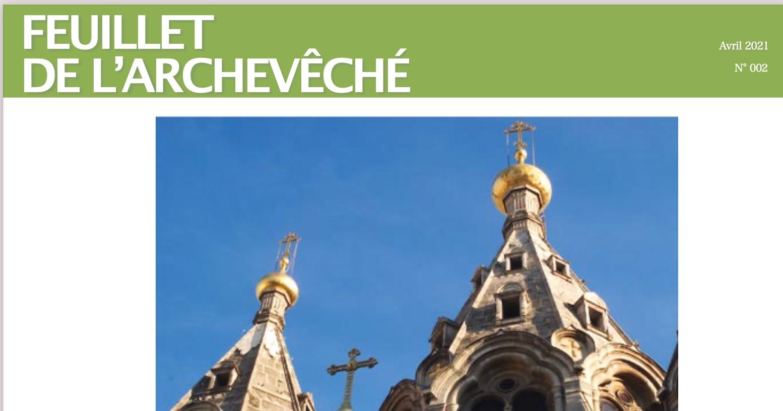 Parution du Feuillet de l'Archevêché n. 2-2021