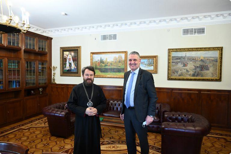 Mgr Hilarion a reçu l'ambassadeur de l'Union européenne à Moscou