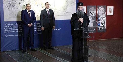 Le patriarche de Serbie Porphyre a inauguré l'exposition «Les nouveaux martyrs du camp de Jasenovac à la lumière de la Résurrection»