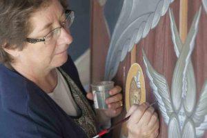 «Visions bibliques : les murs extérieurs du monastère de la Transfiguration»