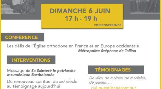 Héritage et Mission de l'Église orthodoxe en France, une visioconférence le 6 juin