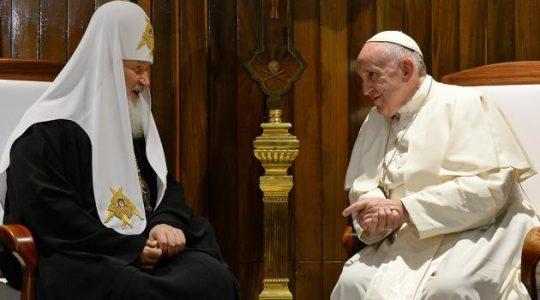 L'Église orthodoxe russe annonce une nouvelle rencontre du pape François et du patriarche Cyrille