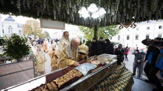 50 000 pèlerins sont venus à Iași pour la fête de sainte Parascève